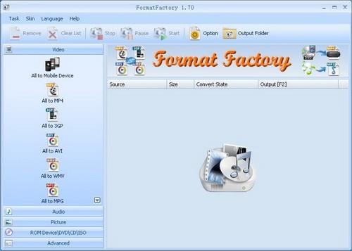 Format Factory โปรแกรมแปลงไฟล์ฟรี