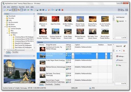 MySlideShow โปรแกรมทำภาพสไลด์