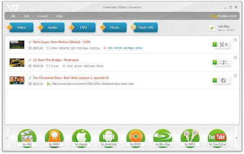 Freemake Video Converter แปลงวิดีโอ