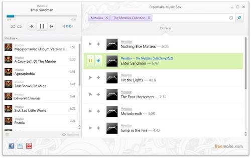 หาเพลงออนไลน์ ด้วย Freemake Music Box